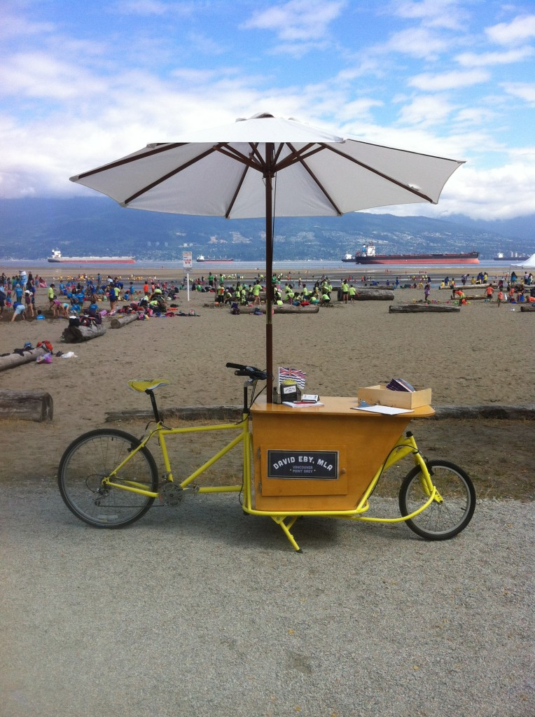 mobile office at the beach