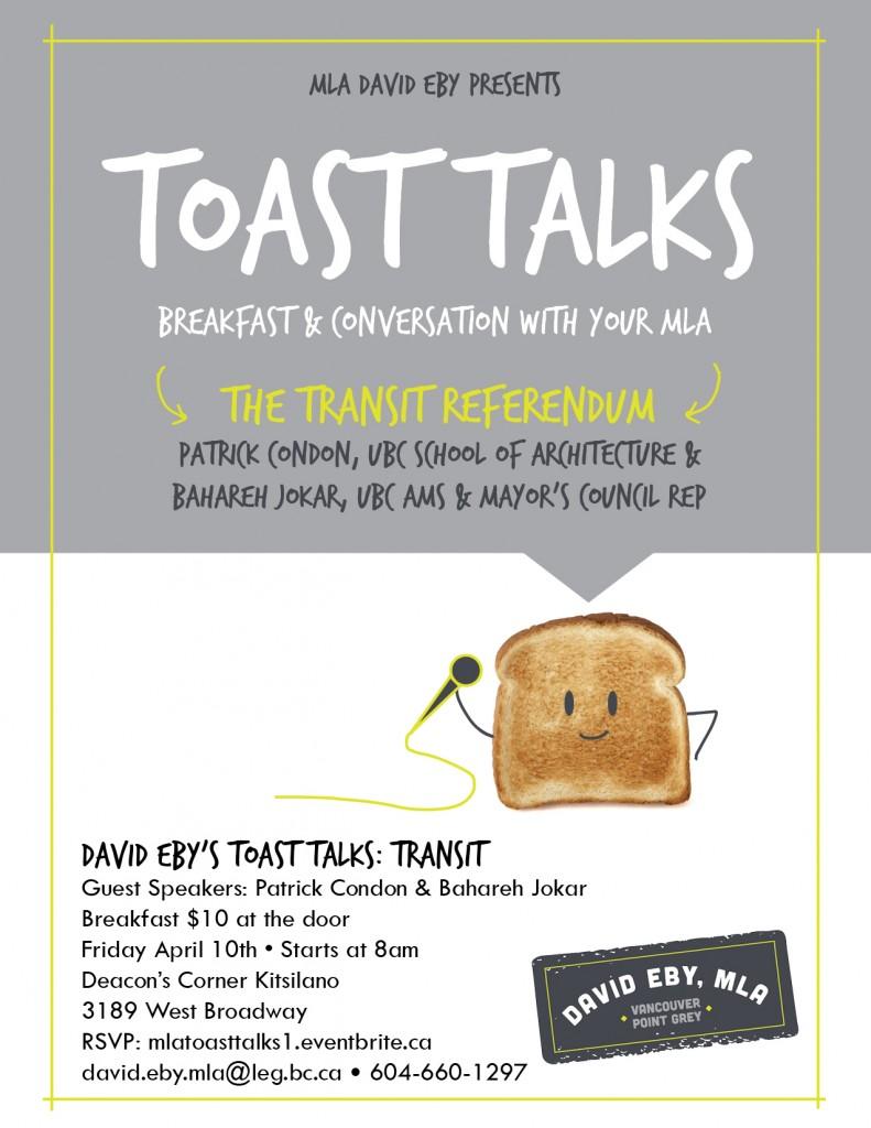 Toast Talks Transit Poster